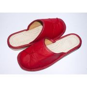 Women's Good Red Leather Slippers