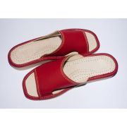 Women's New Red Leather Slippers