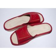 Women's Nice Red Leather Slippers