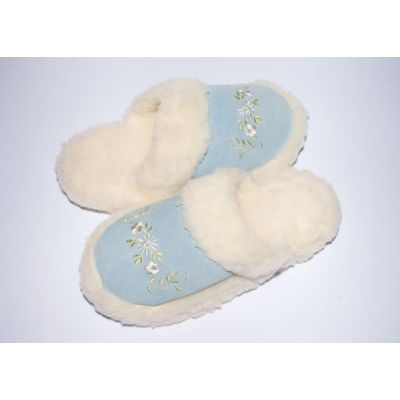 Women's Warming Fluffy Slippers from the Sheep's Wool