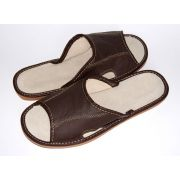 Men's Stylish Elegant Brown leather slippers