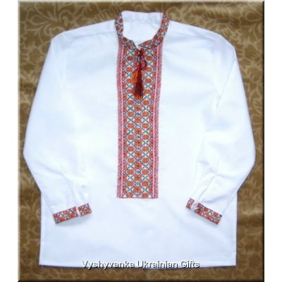 Ukrainian Hand Embroidered Boy's Shirt