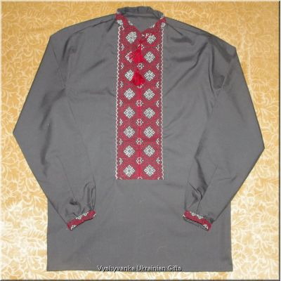 Hand Embroidered Men's Ukrainian Shirt - M