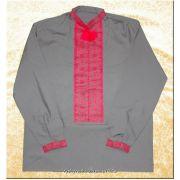 Ukrainian Hand Embroidered Men's Black Shirt XL