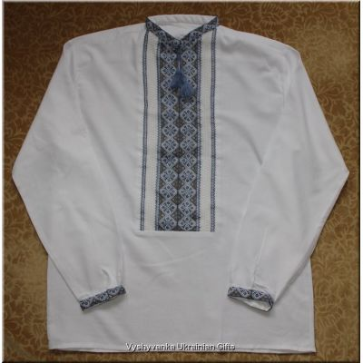 Unique Ukrainian Hand Embroidered Men's Shirt - L