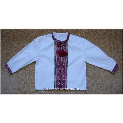 Hand Embroidered Ukrainian Boy's Shirt