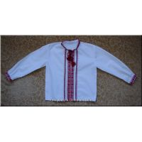 Hand Embroidered Boy's Shirt from Ukraine