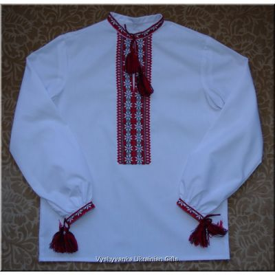 Ukrainian Boy's Shirt Hand Embroidered