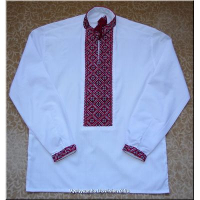 Ukrainian Hand Embroidered Men's Shirt - M