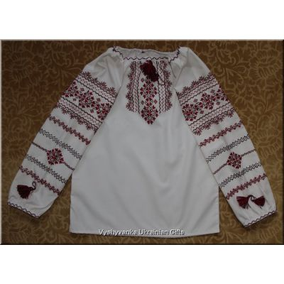 Hand Embroidered Girl's Ukrainian Blouse