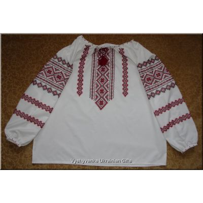 Hand Embroidered Women's Ukrainian Blouse - XXL