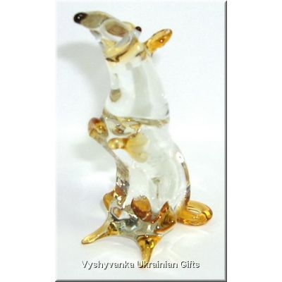Funny Rat - Glass Animal Figurine. Made in Ukraine