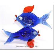 Colourful Fish - Glass Animal Figurine