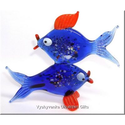 Colourful Fish - Glass Animal Figurine