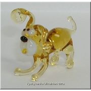 Small Dog - Tiny Glass Animal Figurine