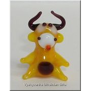 Small Bull - Tiny Glass Animal Figurine