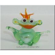 Small Frog - Tiny Glass Animal Figurine