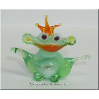 Small Frog - Tiny Glass Animal Figurine