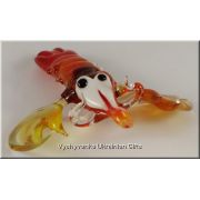 Shrimp - Ukrainian Tiny Glass Animal Figurine
