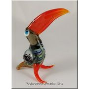 Funny Toucan - Tiny Glass Animal Figurine