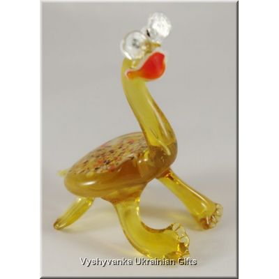 Glass Animal Figurine - Smart Turtle in Glasses