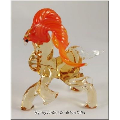 Serious Ram - Ukrainian Small Glass Animal Figurine