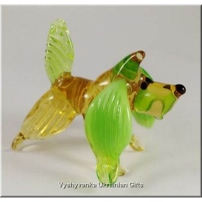 Funny Dog - Ukrainian Glass Animal Figurine