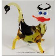 Colourful Cow - Tiny Glass Animal Figurine