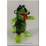 Ukrainian Glass Animal Figurine - Funny Frog