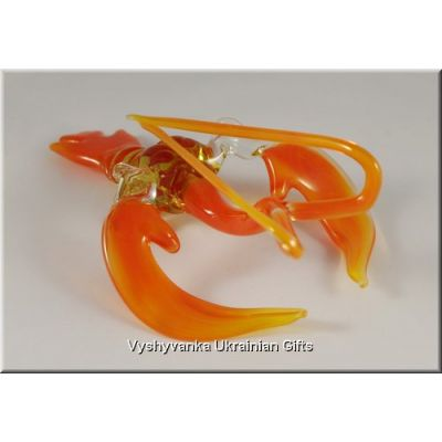 Colourful Сrawfish - Tiny Glass Animal Figurine