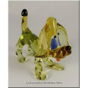 Ukrainian Glass Animal Figurine - Funny Dog