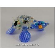 Colourful Turtle - Tiny Glass Animal Figurine