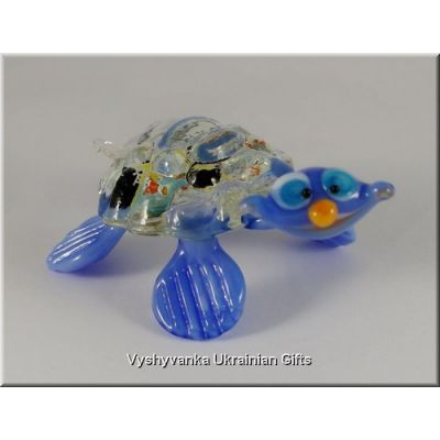 Colourful Turtle - Tiny Glass Animal Figurine