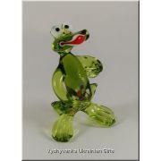 Funny Frog - Ukrainian Glass Animal Figurine