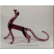 Colourful Panther - Glass Animal Figurine