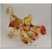 Funny Pig - Ukrainian Glass Animal Figurine