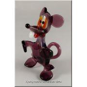 Ukrainian Glass Animal Figurine - Funny Mouse