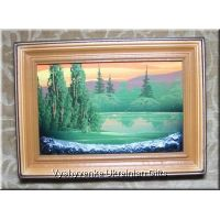 Ukrainian Oil Painting - Lake in Mountains