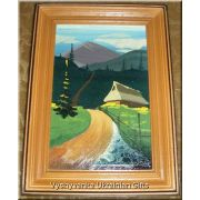 Ukrainian Oil Painting - Road in Mountains