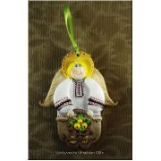 Handmade Bread Dough Ornament - Angel