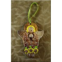 Hand made Ornament Bread Dough Angel