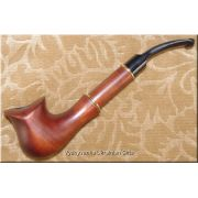 Hand Carved Tobacco Smoking Pipe - Tulip