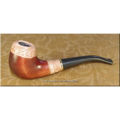 Ukrainian Wooden Tobacco Smoking Pipe - Russ