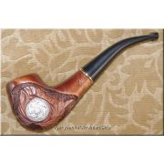 Unique Tobacco Smoking Pipe Author's Signature - Viking
