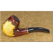 Tobacco Smoking Pipe Hand Carved - Sunflower