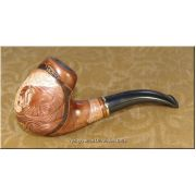 Tobacco Smoking Pipe - Lion on the Stone