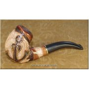Ukrainian Tobacco Smoking Pipe - Anchor Encrusted