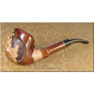 Ukrainian Smoking Pipe Lion on the Earth