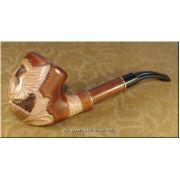 Ukrainian Smoking Pipe Eagle on the Earth