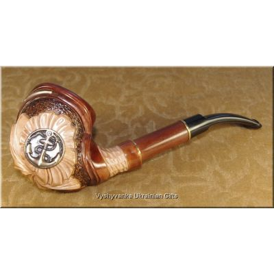 Tobacco Smoking Pipe Hand Carved - Anchor